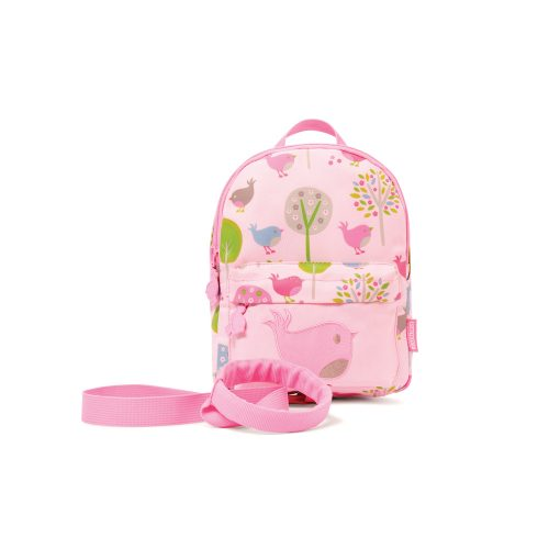 mini backpack_front_with strap_chirpy bird