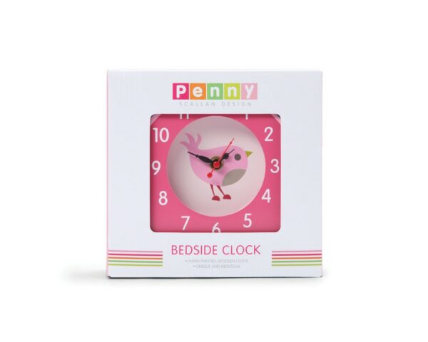 horloge de chevet penny scallan chirpy bird packaging
