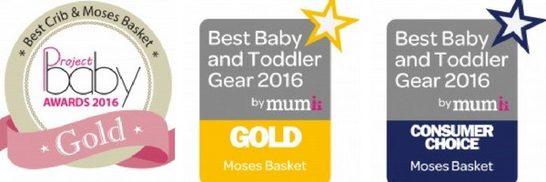 Project Baby Award 2016, Best Baby and Toddler Gear 2016 Gol and Consumer Choice.