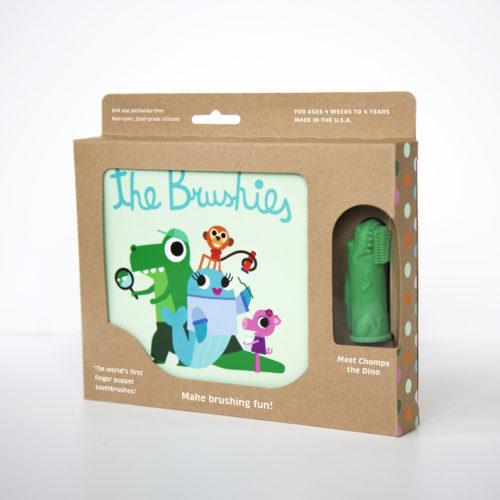 coffret brosse a dents bébé crocro le dinosaure
